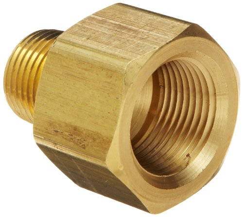 Brass Fitting, Reducer Adapter, 3/8-Inch Female NPT to 1/4-Inch Male NPT