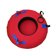 Outdoor portable plastic inflatable 3person snow tube