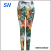 Spring Autumn Printed Leggings Colorful graffiti print leggings nine feet pants milk silk women leggings