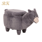 Hot selling modern animal shaped storage stool ottoman for kids