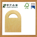 Wholesales handmade unfinished plain plywood wooden hanging basket