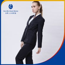 Formal men and women uniform suit dress for china bank or office secretary front with 65 polyester 35 viscose fabrics