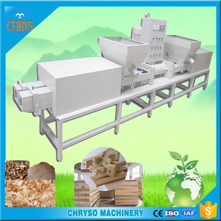 Wood sawdust brick making machine buy block