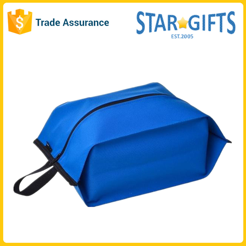 Royal Blue Portable Waterproof Polyester Shoes Matching Bag For Travel
