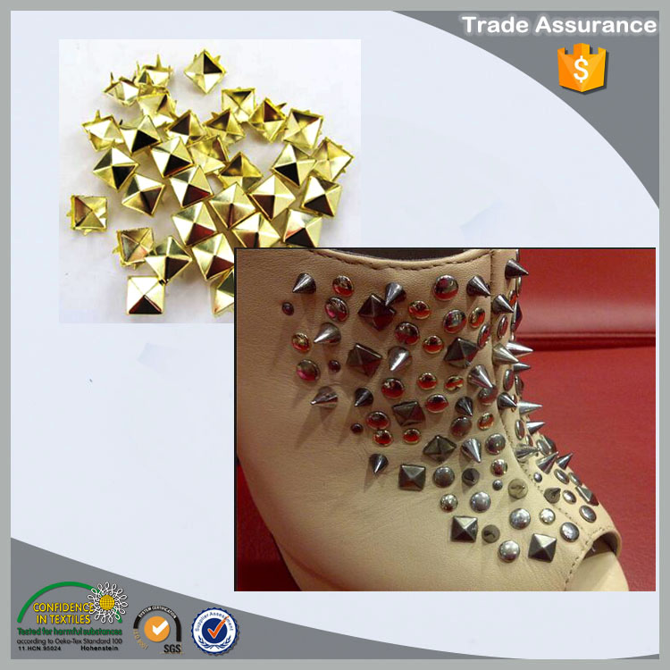 nickle free oeko-tex 100 metal studs for shoes