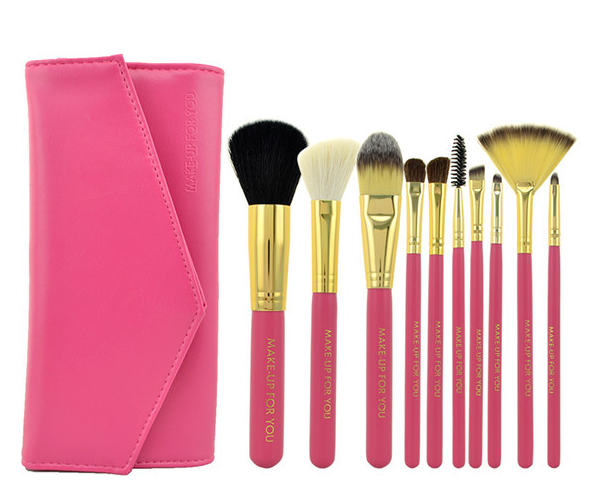Factory direct price MFY Pink Goat Hair Makeup Brush Set
