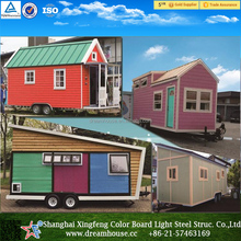container house with wheels design mobile/House on wheels sandwich panel prefabricated green tiny homes
