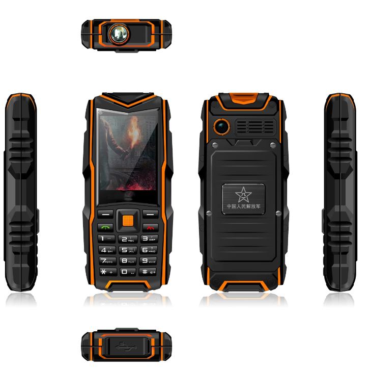 newest arrival feature phone outdoors suitable use sale in South American dual sim dual standby army mobile phone F8