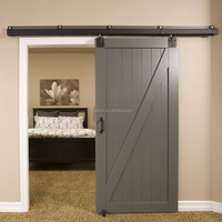 Contemporary wooden sliding barn door for bedroom