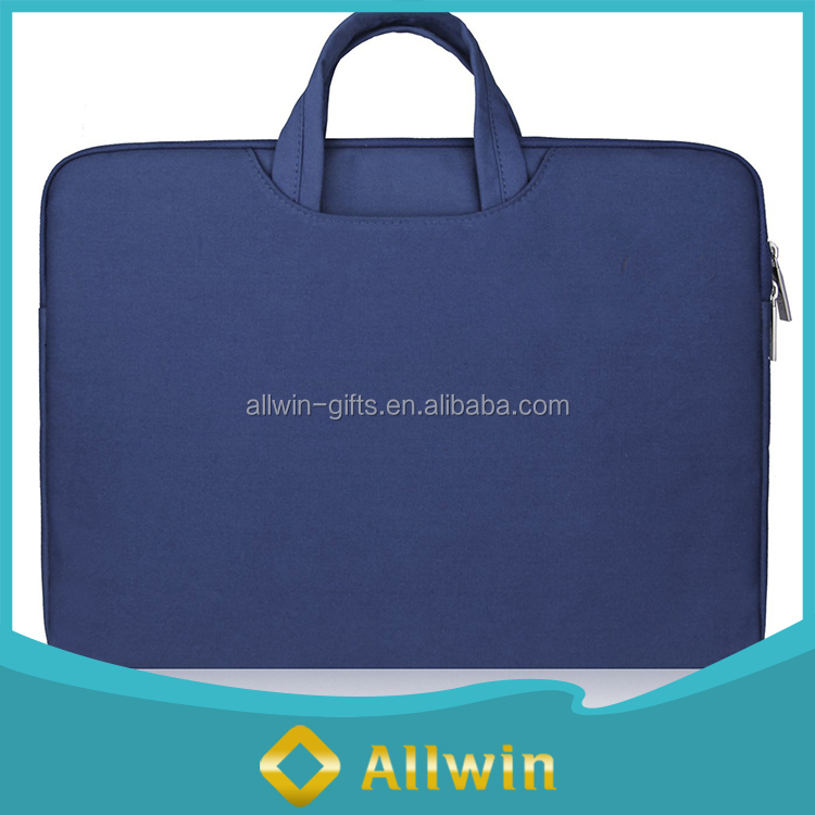 Wholesale promotional 17 inch waterproof canvas laptop sleeve