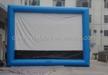 Funny big outdoor advertising inflatable screen,giant inflatable projection movie screen for sale