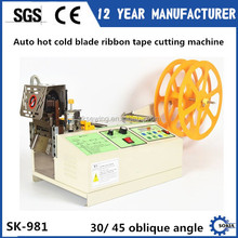 30 45 oblique angle hot blade Webbing Fabric Tapes Cutting Machine