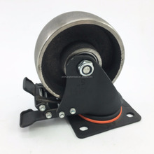 Heavy Duty Cast Iron Caster Wheel With Brake