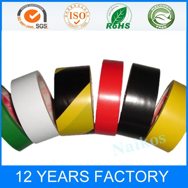 Yellow Black Industry Pipe Hazard Warning Strip Adhesive tape