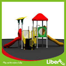 Made-in-China Middle Size Curved Slide Outdoor Play Centres for Kids