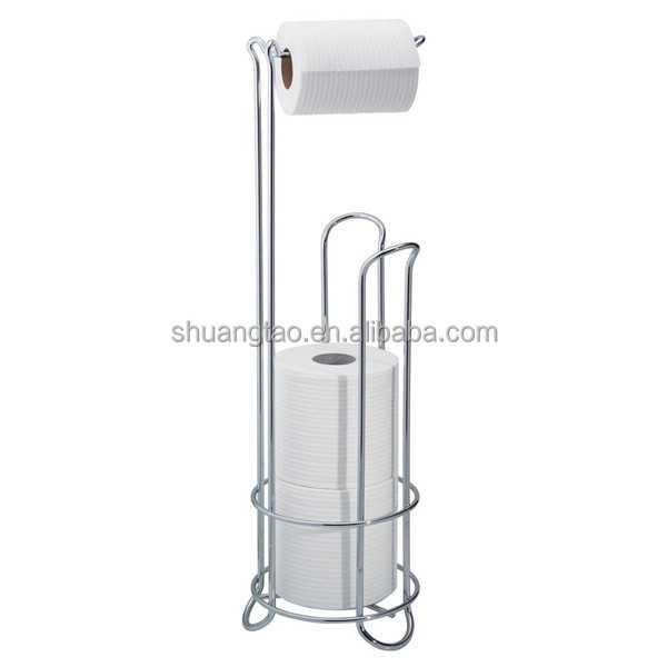 Hot sale Beautiful Roll free standing toilet paper holder(factory)