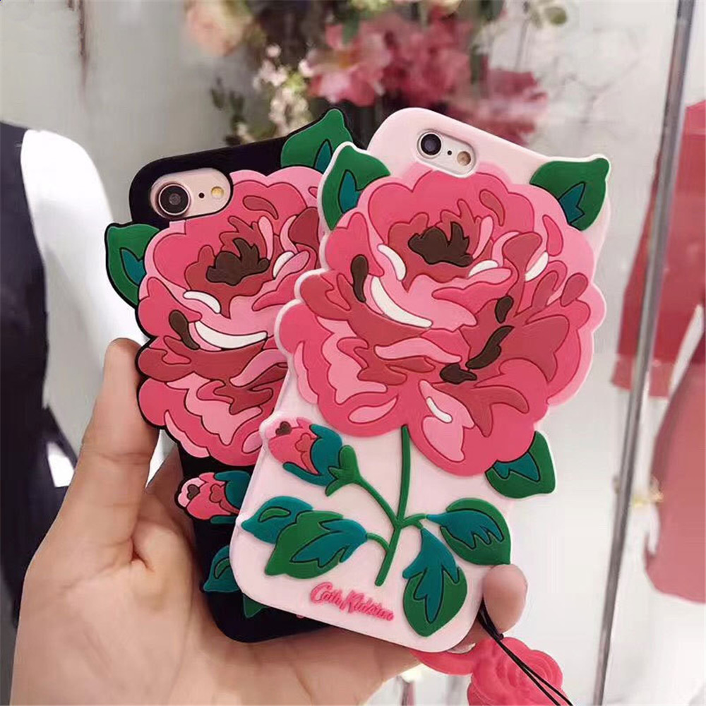 Hot Selling Cute Silicone Rose Flower Protectiing Smart Phone Case Cell Phone Case