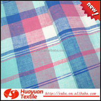 Hotsale yarn dyed green and white check fabric