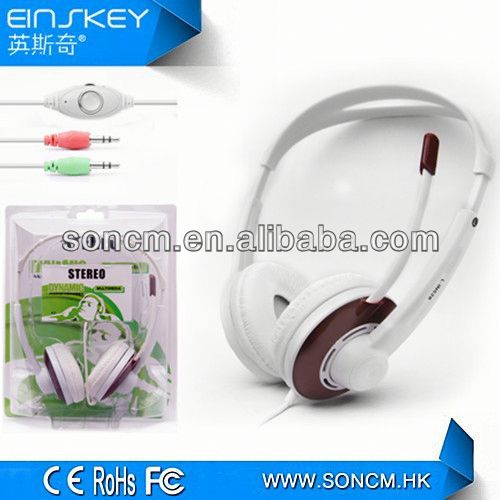 2013 Newest High quality fashion headphone call center with mic for mobile