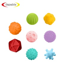 8pcs set textured soft plastic grab touch hand toys baby training baby ball toy squeeze toy