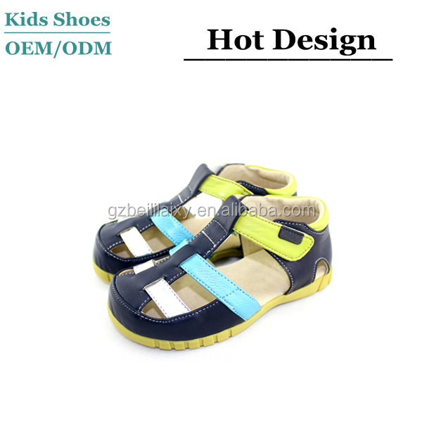 Genuine leather brand new children casual shoes kids casual sandals