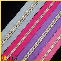 china wholesale #5 #7 #10 sliver teeth #5 nylon zipper tent fastener