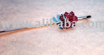 Crystal Orchid Bookmark cum Hair Pin