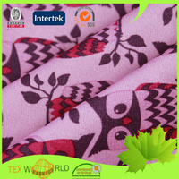 Custom printed jersey knit recycled polyester spandex fabric
