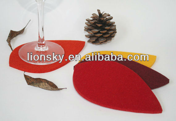 Leaf Felt coaster in 3mm Thickness