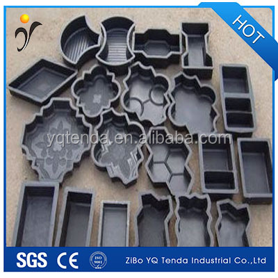Durable Interlocking precast concrete plastic paving rubber moulds