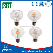 China factory on alibaba G80 4w custom 4000k dimmable vintage led filament edison lamp bulb lighting