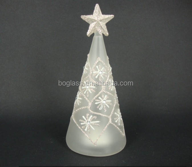2014 new product! glass christmas decoration tree with highquality from factory