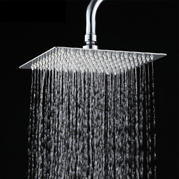 detachable stainless steel square rain shower