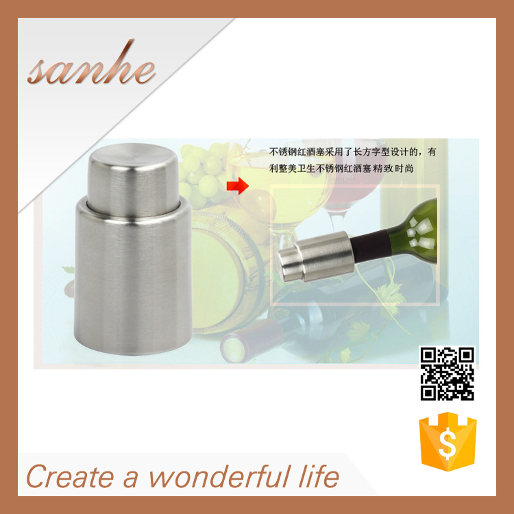 Metal stainless steel and ABS plastic christmas <strong>wine</strong> stopper