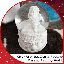 resin snow globe glass snow ball angel high quality
