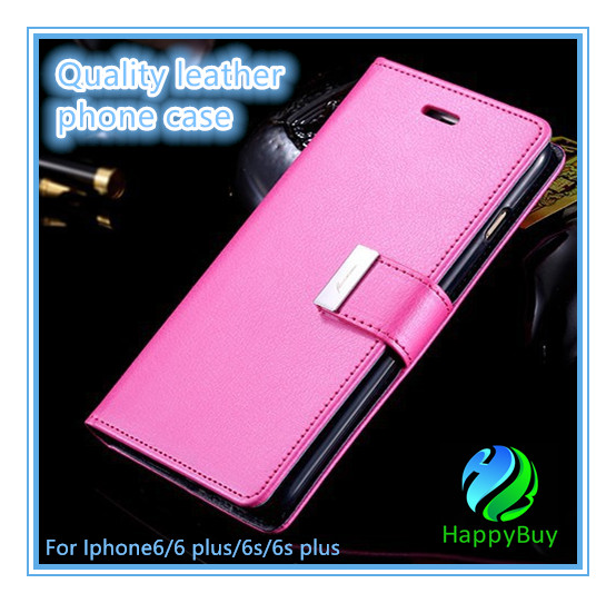 Top selling PU leather wallet case luxury protective armor defender flip phone case for case iphone 6/6s/6 Plus/6s Plus
