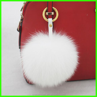 Huge Size Real Soft Fur Pom Pom Bag Charm For Handbag Cell Phone Car Decoration