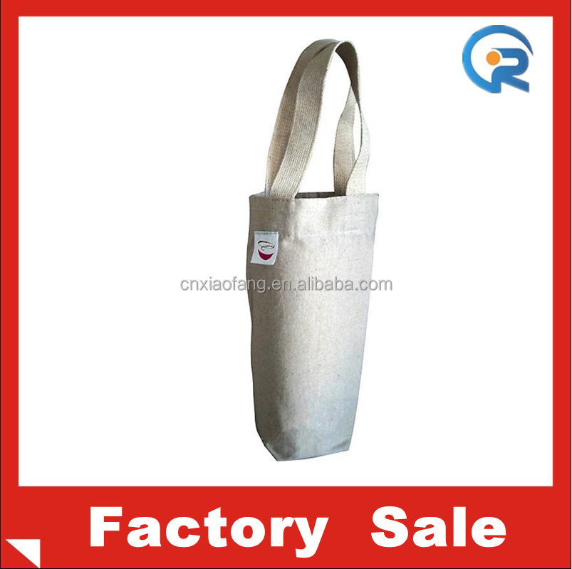 professional wholesale cheap cordat cotton one wine bag
