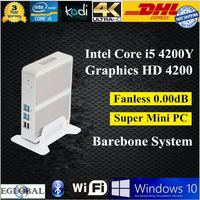 12V Micro pc mini computer i3 4012Y/i5 4200Ywith 4GB RAM and128GB SSD,300M WIFI,cheap mini desktop pc with core i3 i5 processor