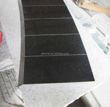 Polished Black galaxy granite paving stone circle