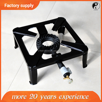 New !!! Portable Camping cast iron cooking single burner cast iron gas burner