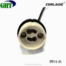CE Approve GU10 Ceramic Lamp Base For Hanging Lamp