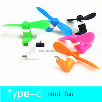 New Arrival Mini Portable Handhold Type-C Mobile Phone Cooling Fan For Google Nexus 5X For Huawei P9 For Outdoor Sport Rainbow