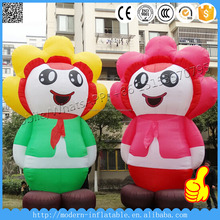 Mall Advertising Inflatable Cartoon Girl and Boy