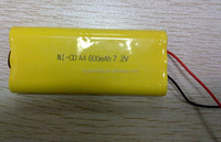 NI-CD AA 600mah 7.2V Rechargeable Battery Pack