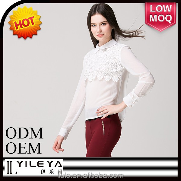 New product Promotion long sleeve slim latest blouse design pictures