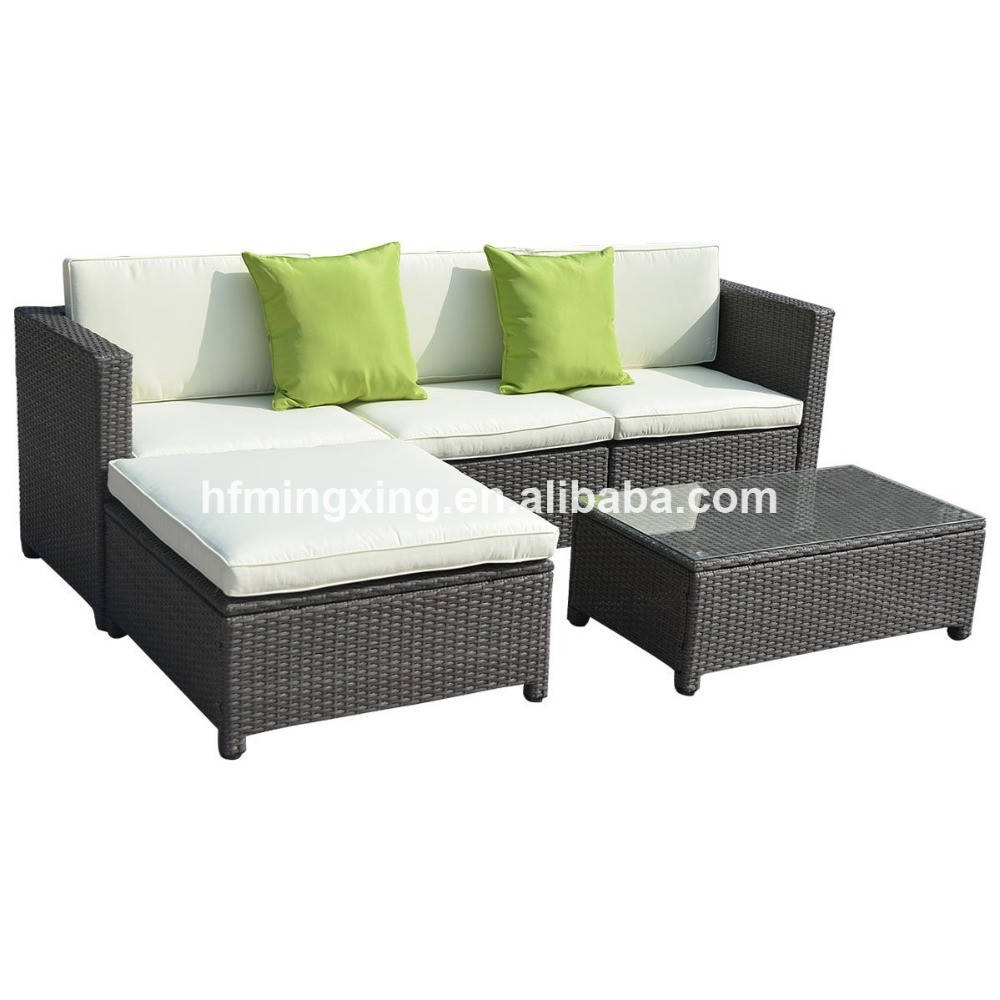 5PC Outdoor Patio Sofa Set made of PE Wicker Rattan