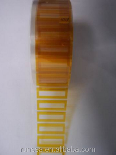 PET/polyimide/copper film with release paper die cut shapes