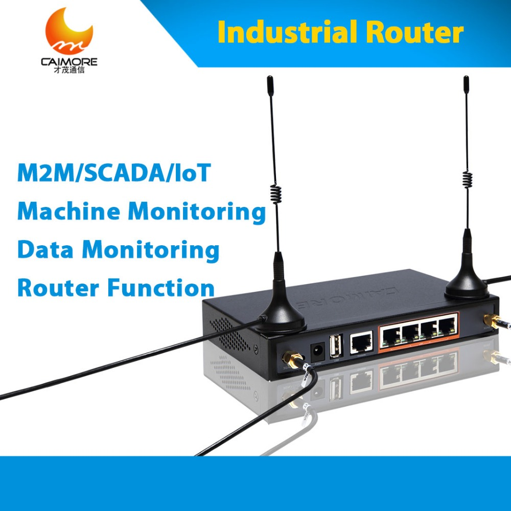 Industrial LTE 4G sim router 3g 4g wireless cellular modem with sim card slot support RS232 RJ45 for M2M, IOT, ATM, PLC