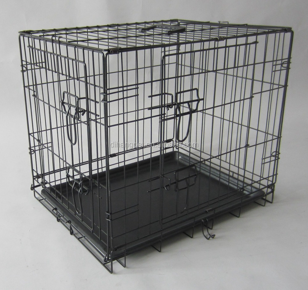 foldable cheap metal portable wire dog cage kennel crate case
